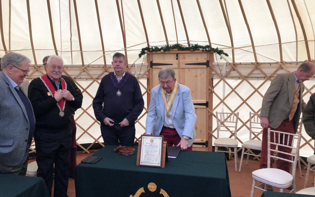 Is this a first? A meeting in a Yurt?