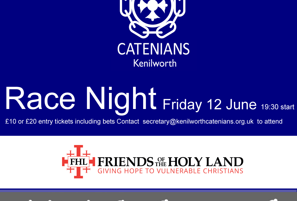 Kenilworth Circle host Virtual Race Night to raise fund for FHL