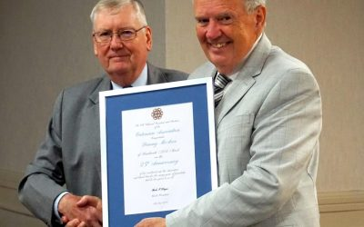 25 Year Scrolls awarded to Kenilworth Brother's Danny & Tim